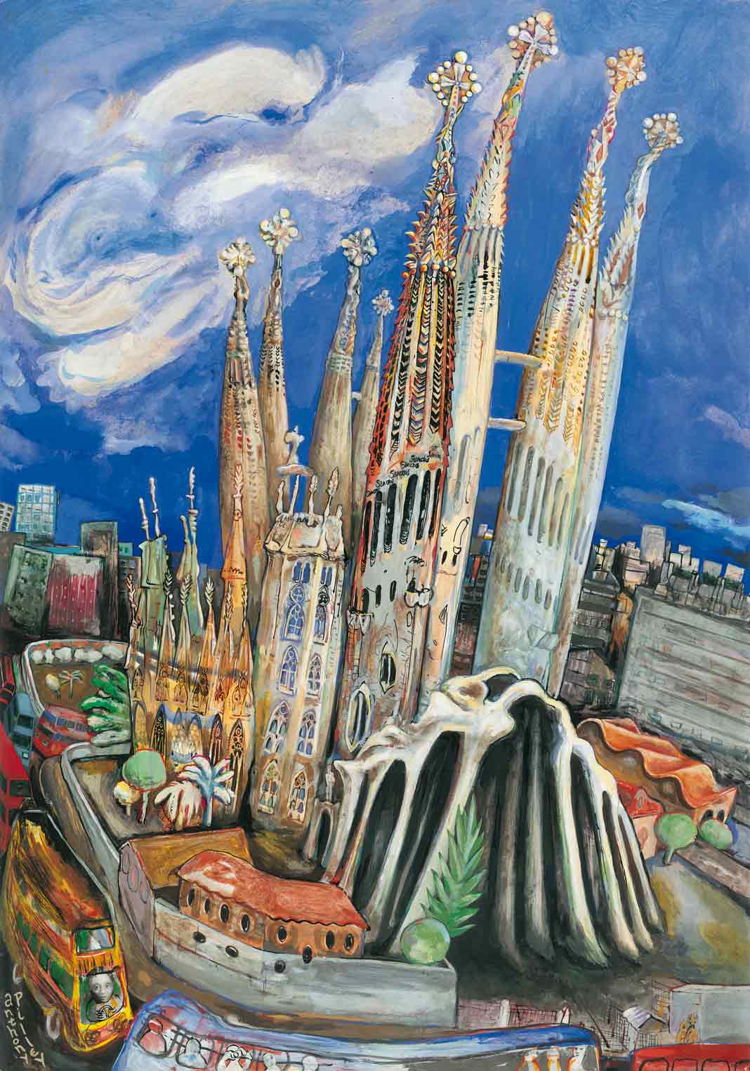 Poster, 'La Sagrada Familia' by Anthony Pilley